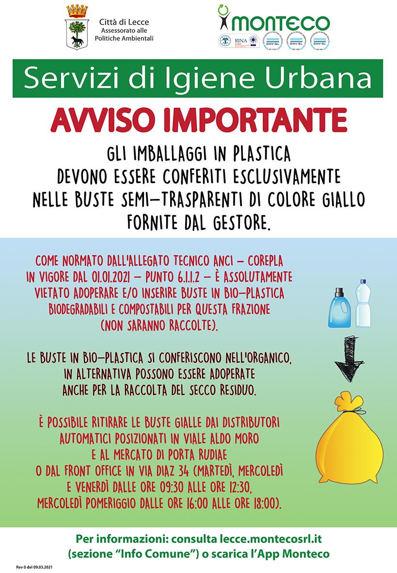 Lecce. Attenzione alle bio-plastiche, occorre adoperarle nella maniera opportuna